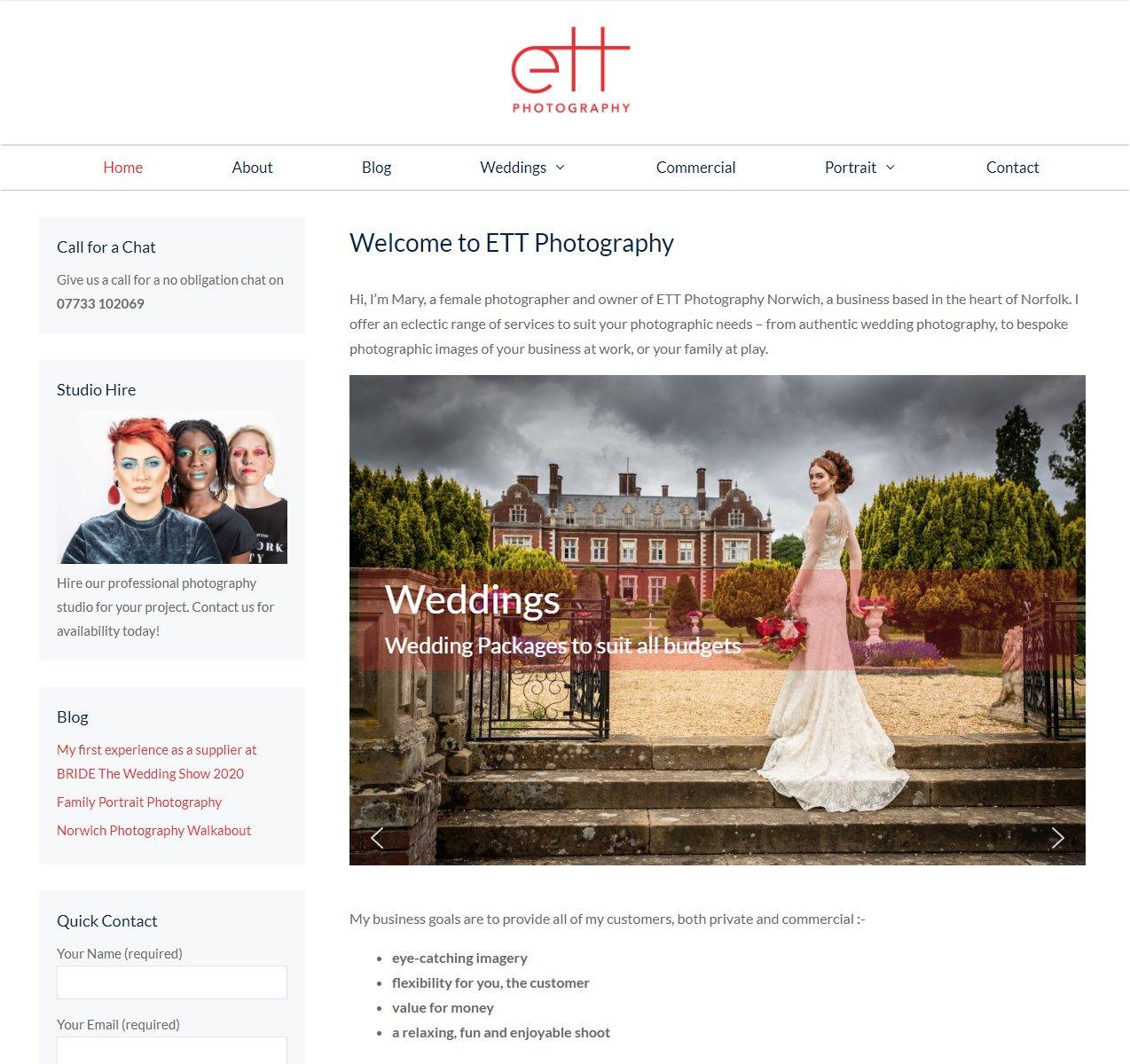 New Website for ETT Photography
