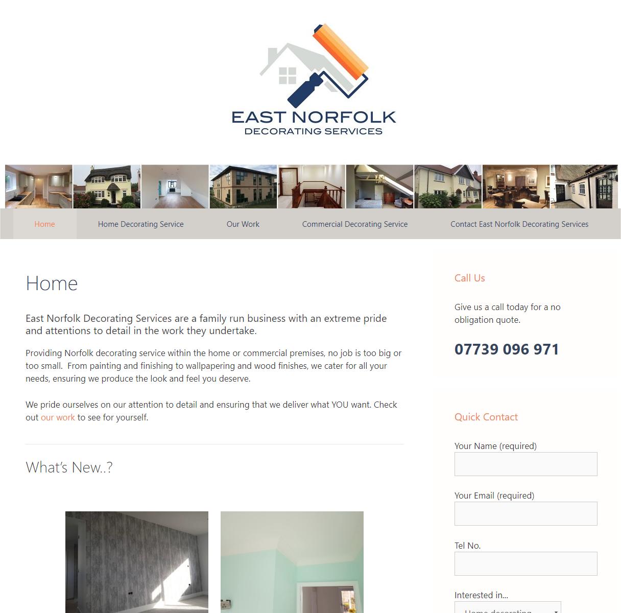 New website designed