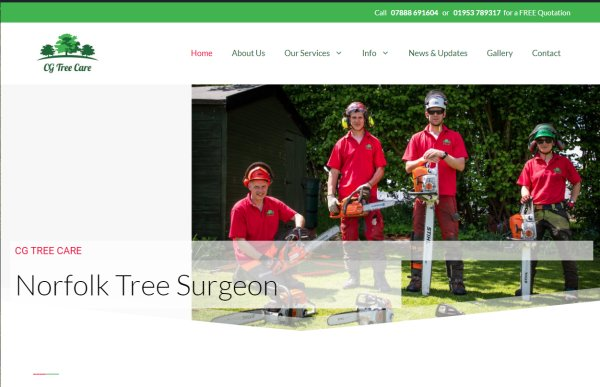 CG Tree Care Site Design